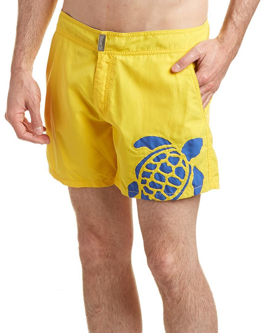 Vilebrequin Moorea Swim Trunk In Yellow