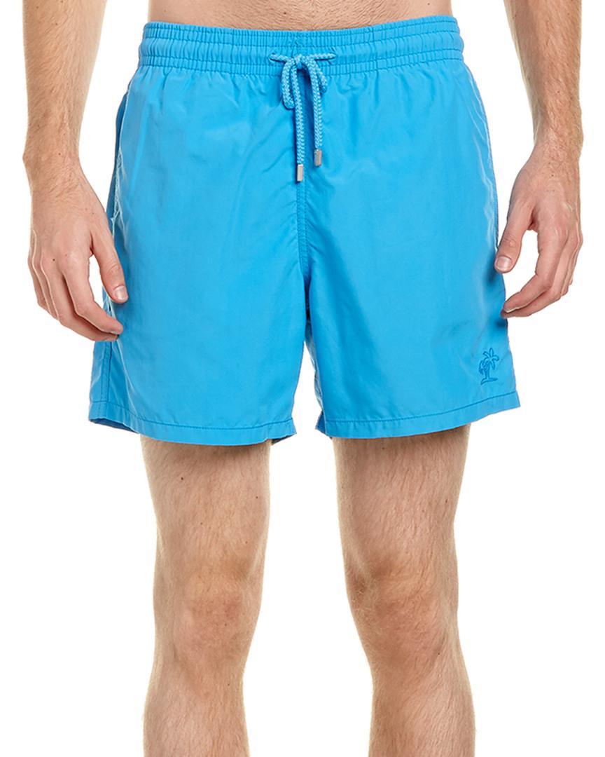 Vilebrequin Moorea Solid Swim Trunk In Blue