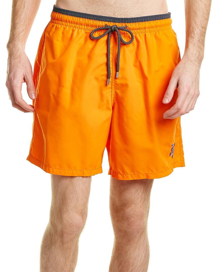 Vilebrequin Moka Swim Short In Orange