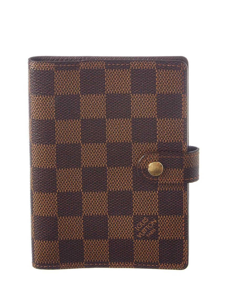 Louis Vuitton Damier Ebene Canvas Agenda Pm In Nocolor