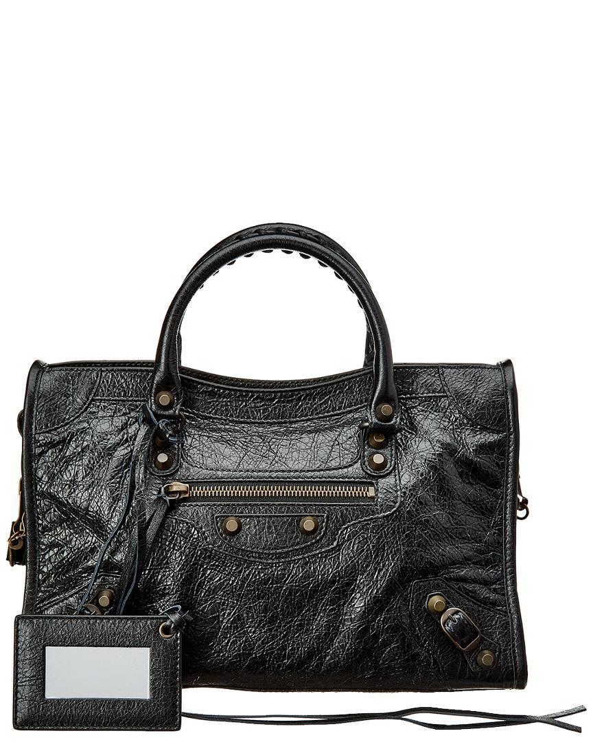 Balenciaga Classic City Small Leather Shoulder Bag In Black