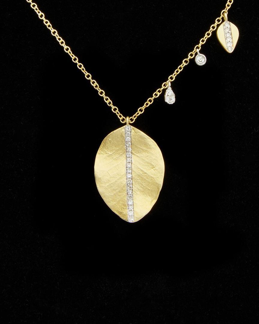 Meira T 14k 0.18 Ct. Tw. Diamond Necklace In Nocolor