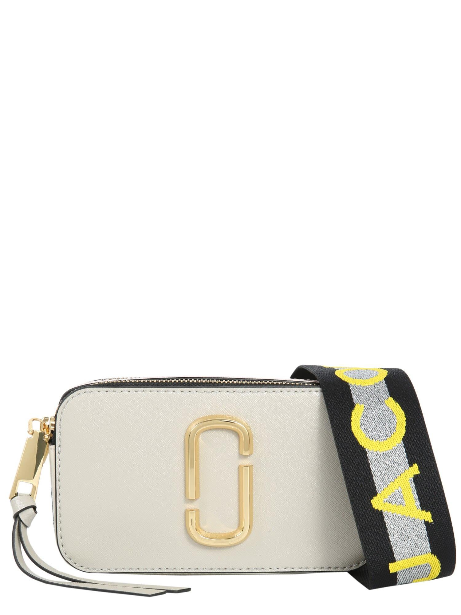 Marc Jacobs Small Snapshot Camera Bag In Grigio
