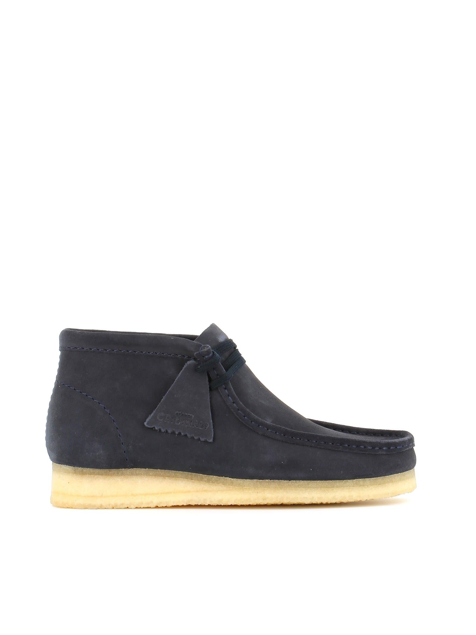 "Clarks Desert-boots ""wallabee Boot"" In Blue"