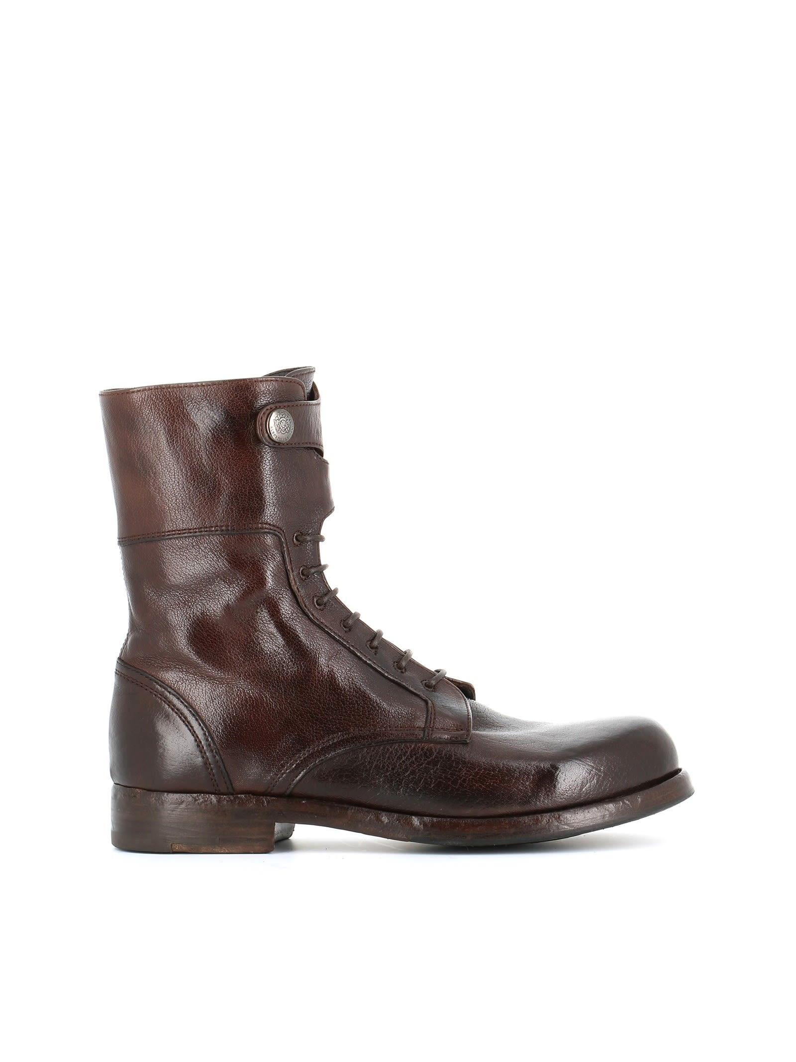 "Alberto Fasciani Lace-up Boot ""windy 50007"" In Brown"