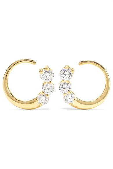 Melissa Kaye Aria 18-karat Gold Diamond Earrings
