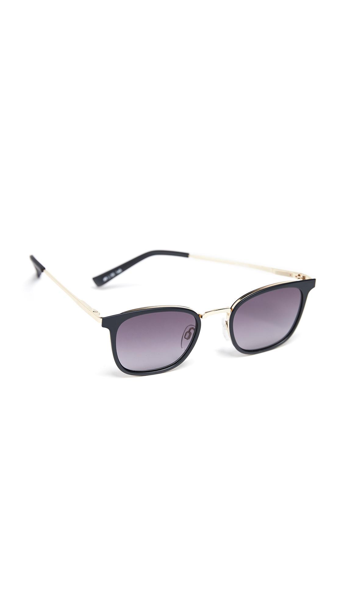 Le Specs Racketeer Sunglasses In Matte Black