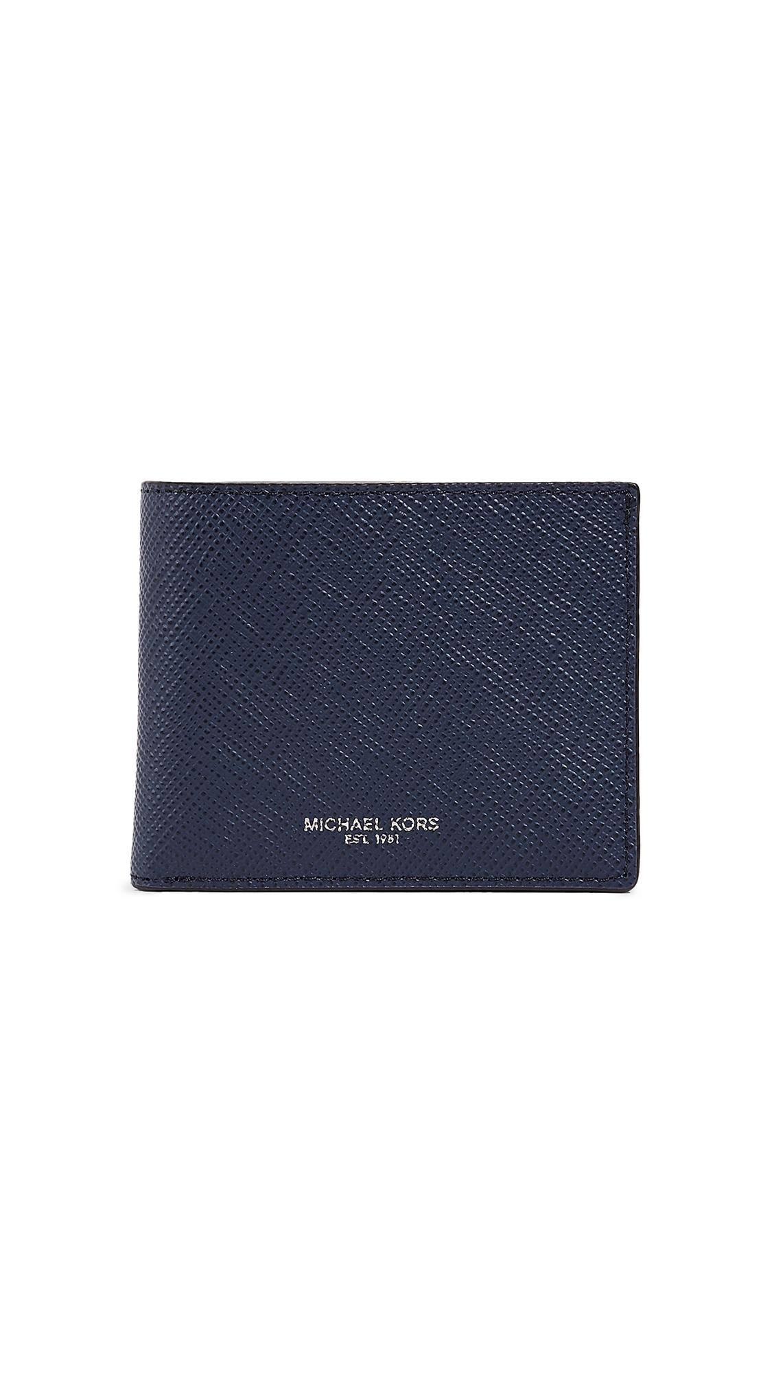 Michael Kors Harrison Slim Billfold In Navy