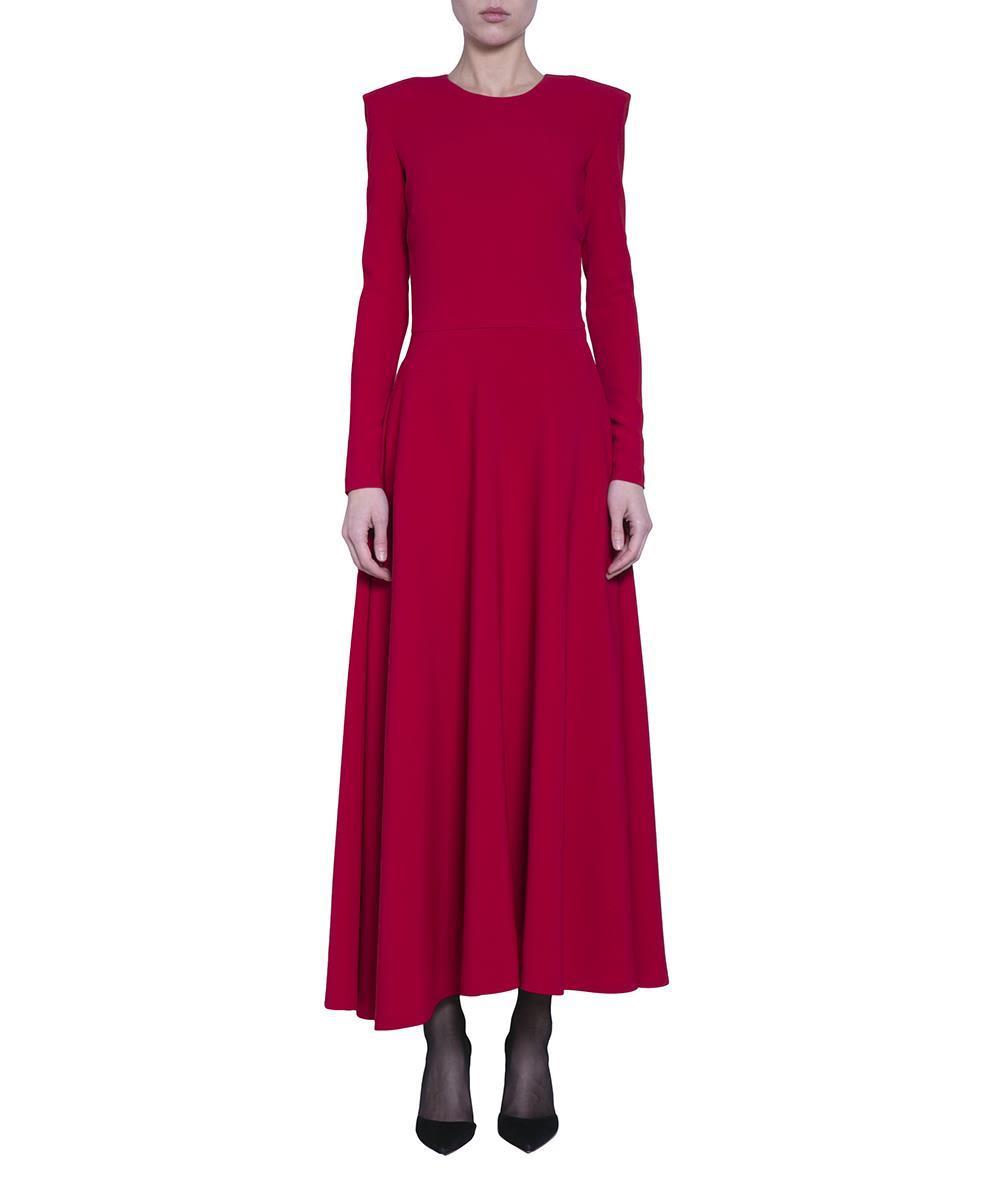Amen Crepe Viscose Dress In Rosso