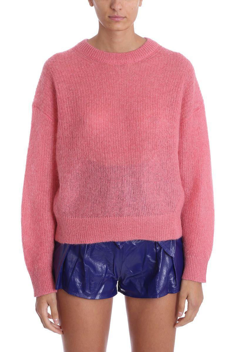 Iro Version Pink Mohair Wool Sweater Knit Pullover In Rose-pink