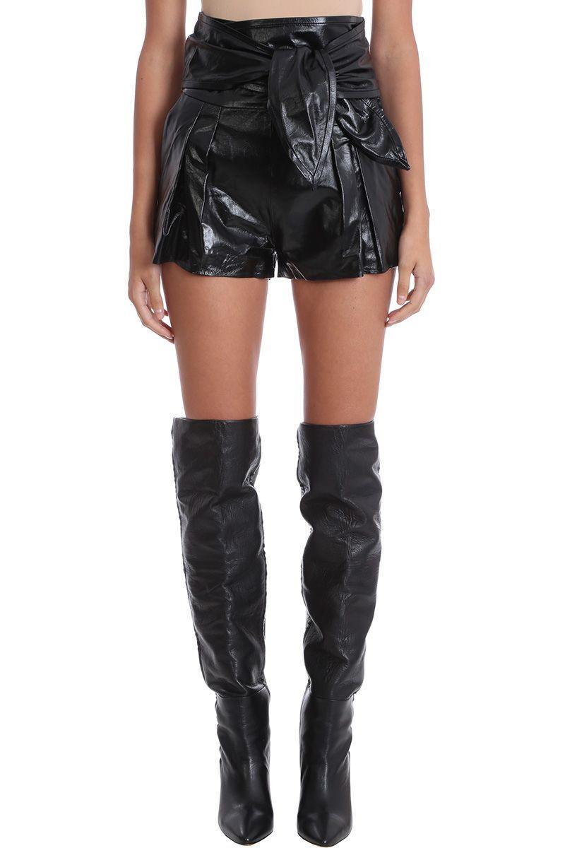 Iro Joe Black Leather Shorts