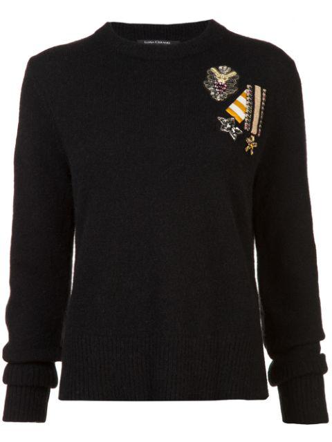 Luisa Cerano Embellished Sweater - Black