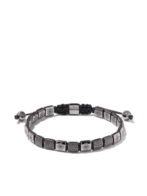 Shamballa Jewels 18kt White Gold & Black Diamond Lock Bracelet