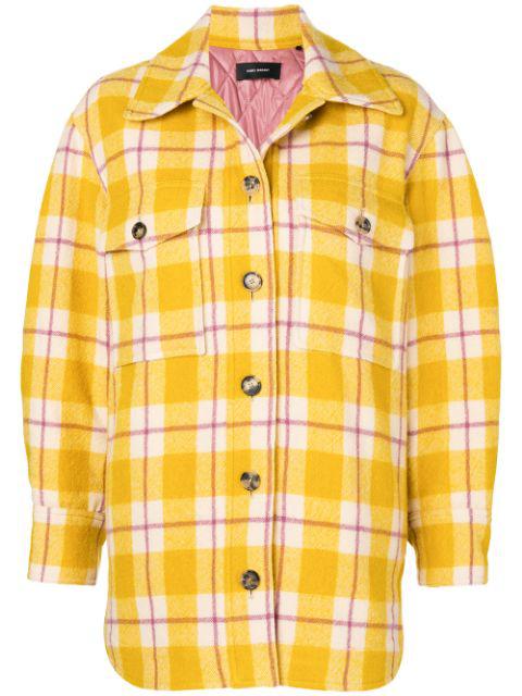 Isabel Marant Plaid Jacket - Yellow In Yellow & Orange