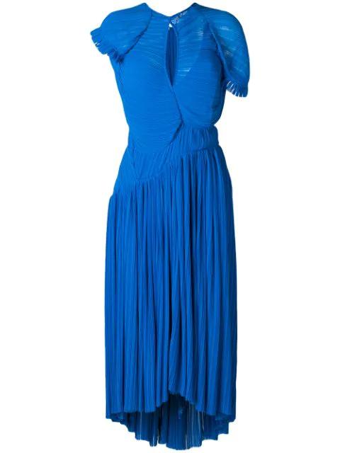 Preen By Thornton Bregazzi Milly Flared Dress In Blue