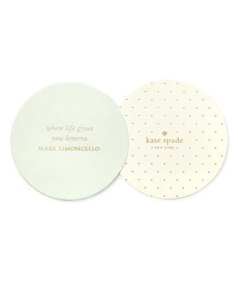 Kate Spade New York Set Of 2 Paper Coaster Set In Nocolor