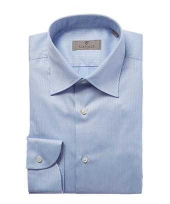 Canali Button-down Dress Shirt In Blue