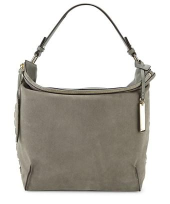 Vince Camuto Textured Leather & Suede Hobo Bag In Nocolor