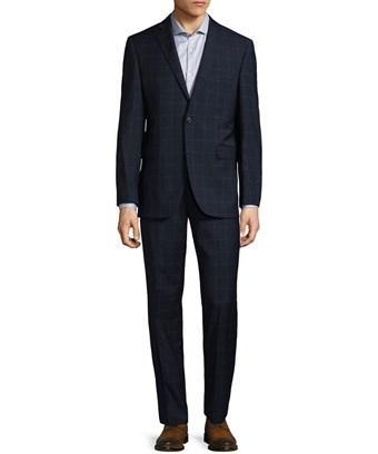 Saks Fifth Avenue Windowpane Notch Suit In Nocolor