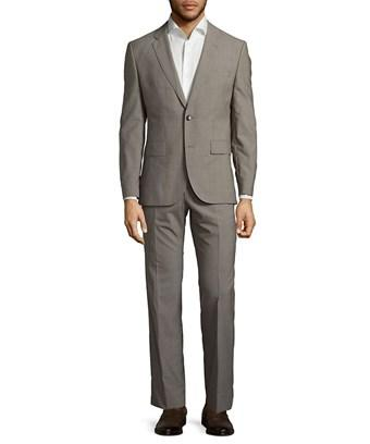 Hugo Boss Two-button Long Sleeve Suit In Nocolor