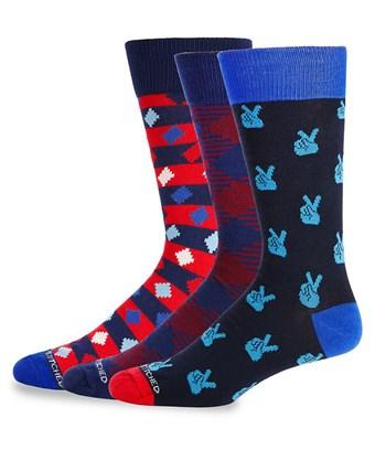 Unsimply Stitched Three-pack Printed Crew Socks In Nocolor