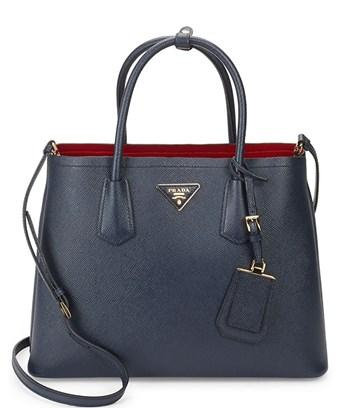 Prada Saffiano Leather Tote In Nocolor