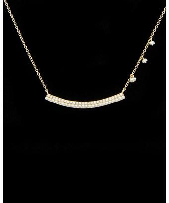 Meira T 14k 0.19 Ct. Tw. Diamond & Pearl Necklace In Nocolor