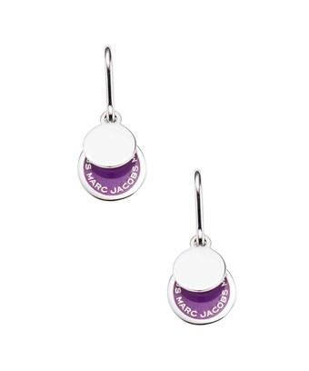 Marc By Marc Jacobs Jewelry Enamel Logo Disc Earrings In Nocolor