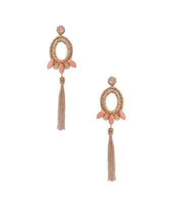 Deepa Gurnani Beaded & Drop Chain Statement Earrings In Nocolor