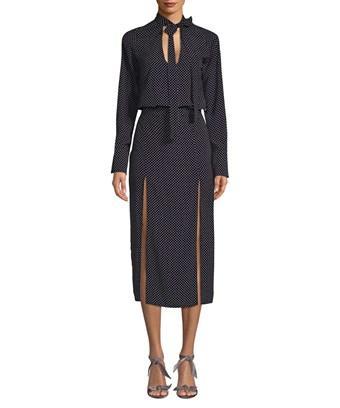 Alexis Noelle Polka Dot Midi Dress In Nocolor