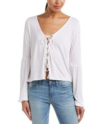 Amuse Society Spencer Linen-blend Top In Nocolor