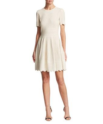Alexander Mcqueen Crochet Flare Dress In Nocolor