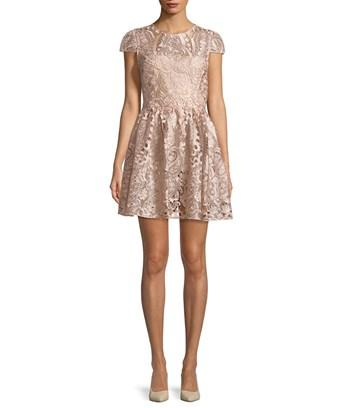 Alice And Olivia Alice + Olivia Gracia Embroidered Dress In Nocolor