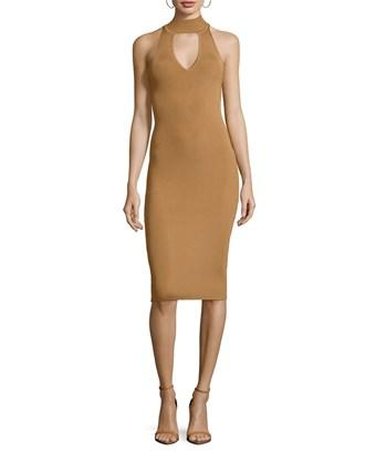Arc Rivy Choker Sheath Dress In Nocolor