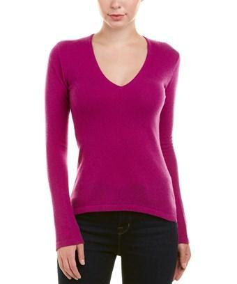 Autumn Cashmere V-neck Cashmere Sweater In Purple