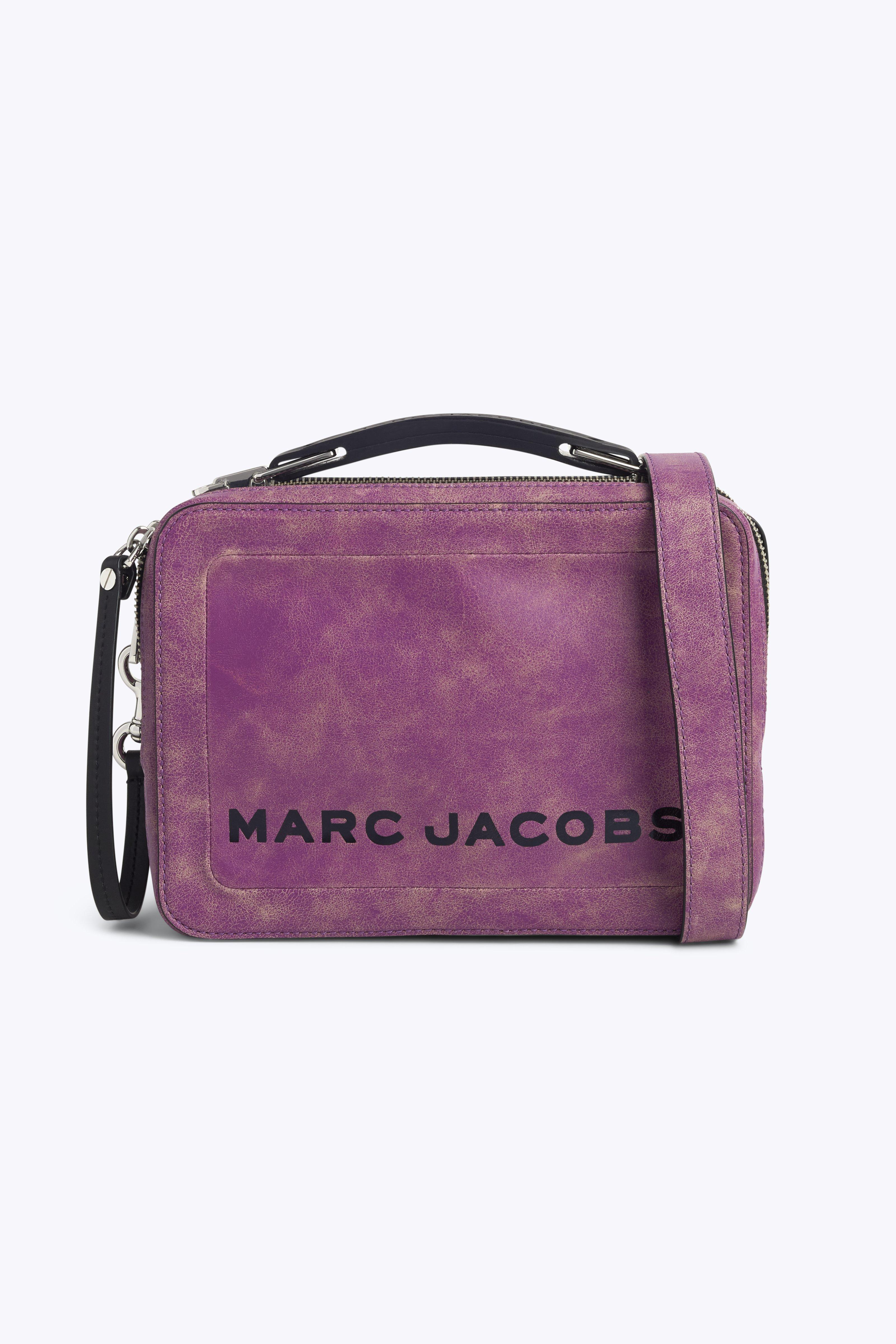 ef6578da02072e Marc Jacobs The Box Leather Shoulder Bag In Rhubarb   ModeSens
