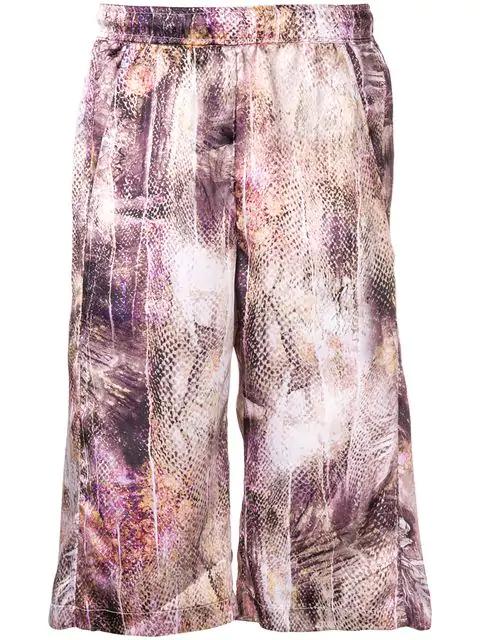 Cottweiler Snakeskin Print Shorts - Neutrals