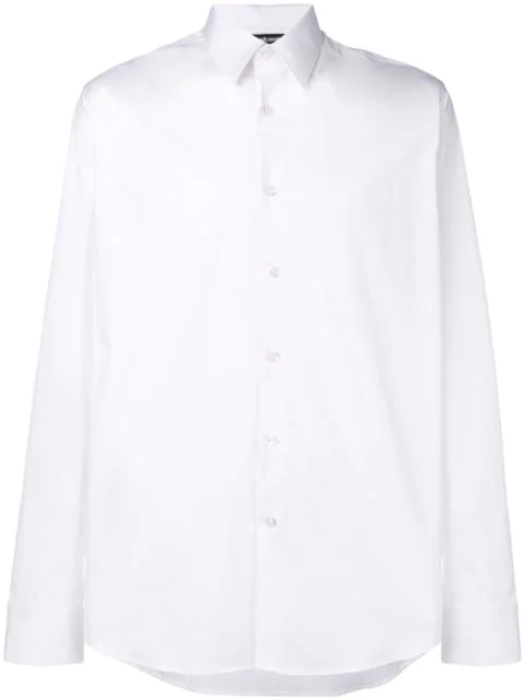 Just Cavalli Long-sleeve Fitted Shirt - White