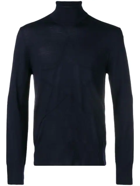 Just Cavalli Roll-neck Fitted Sweater - Blue
