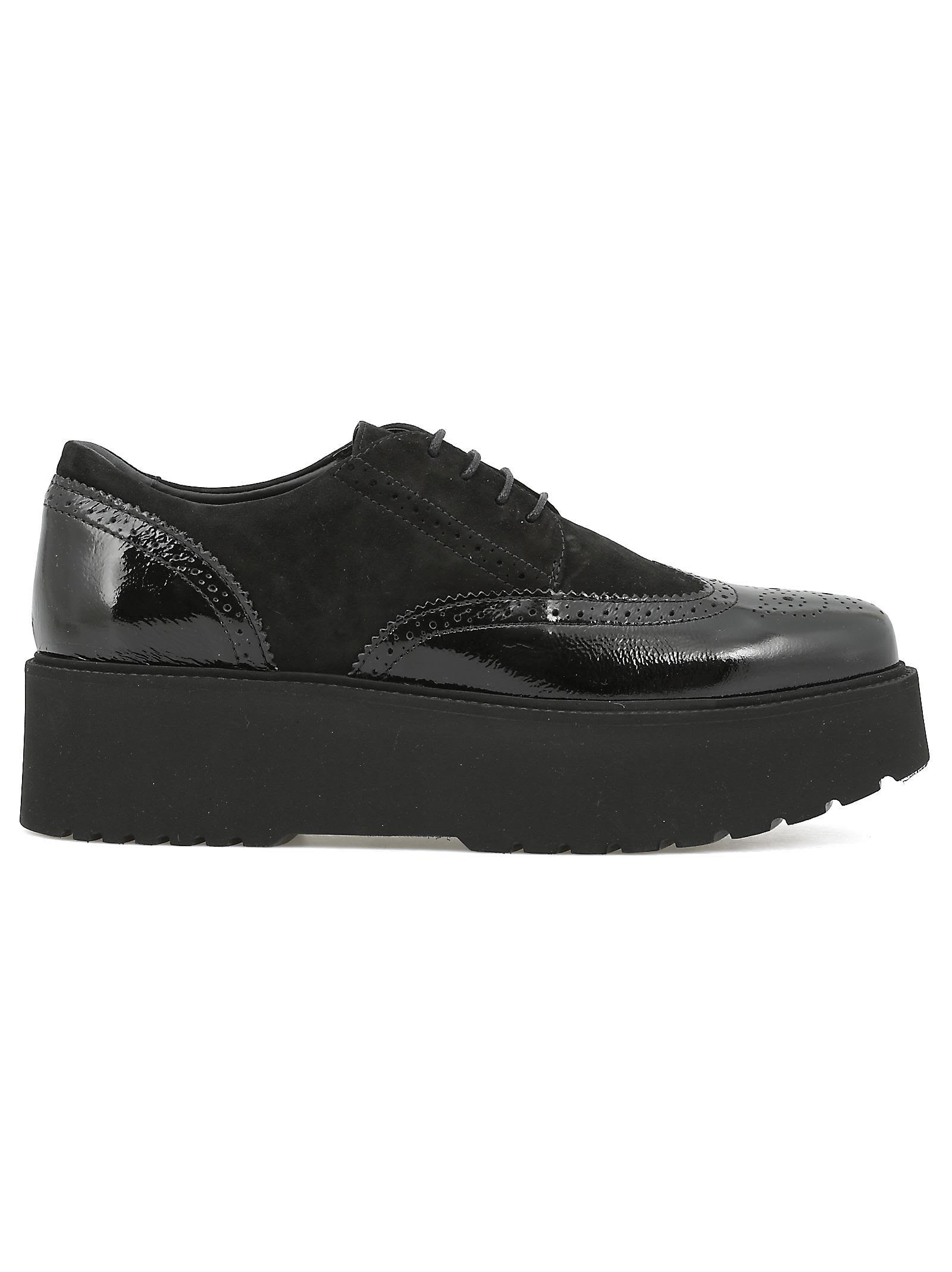 Hogan Leather Lace-up Shoe In Black