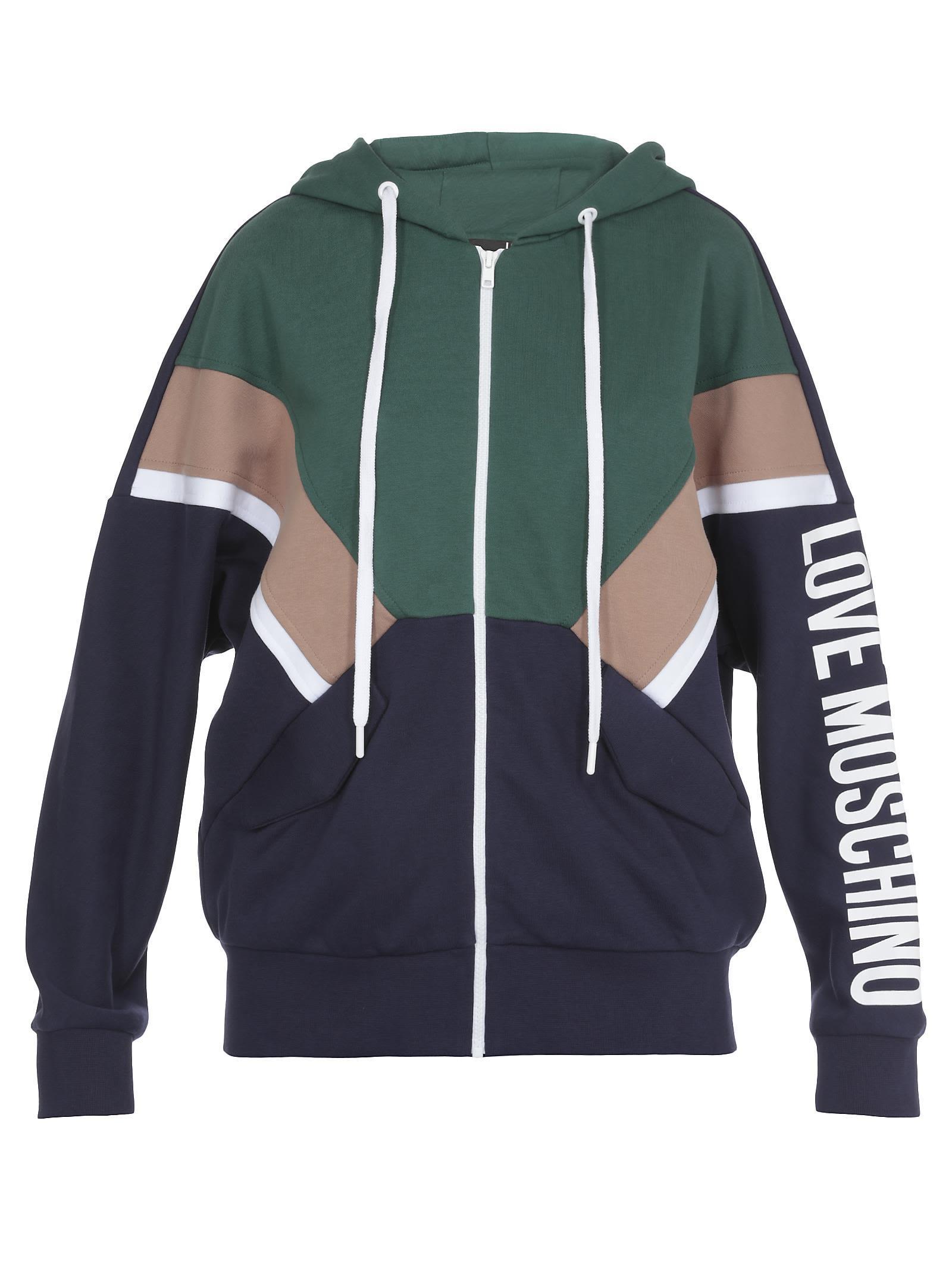 Love Moschino Cotton Sweater In Blue/b