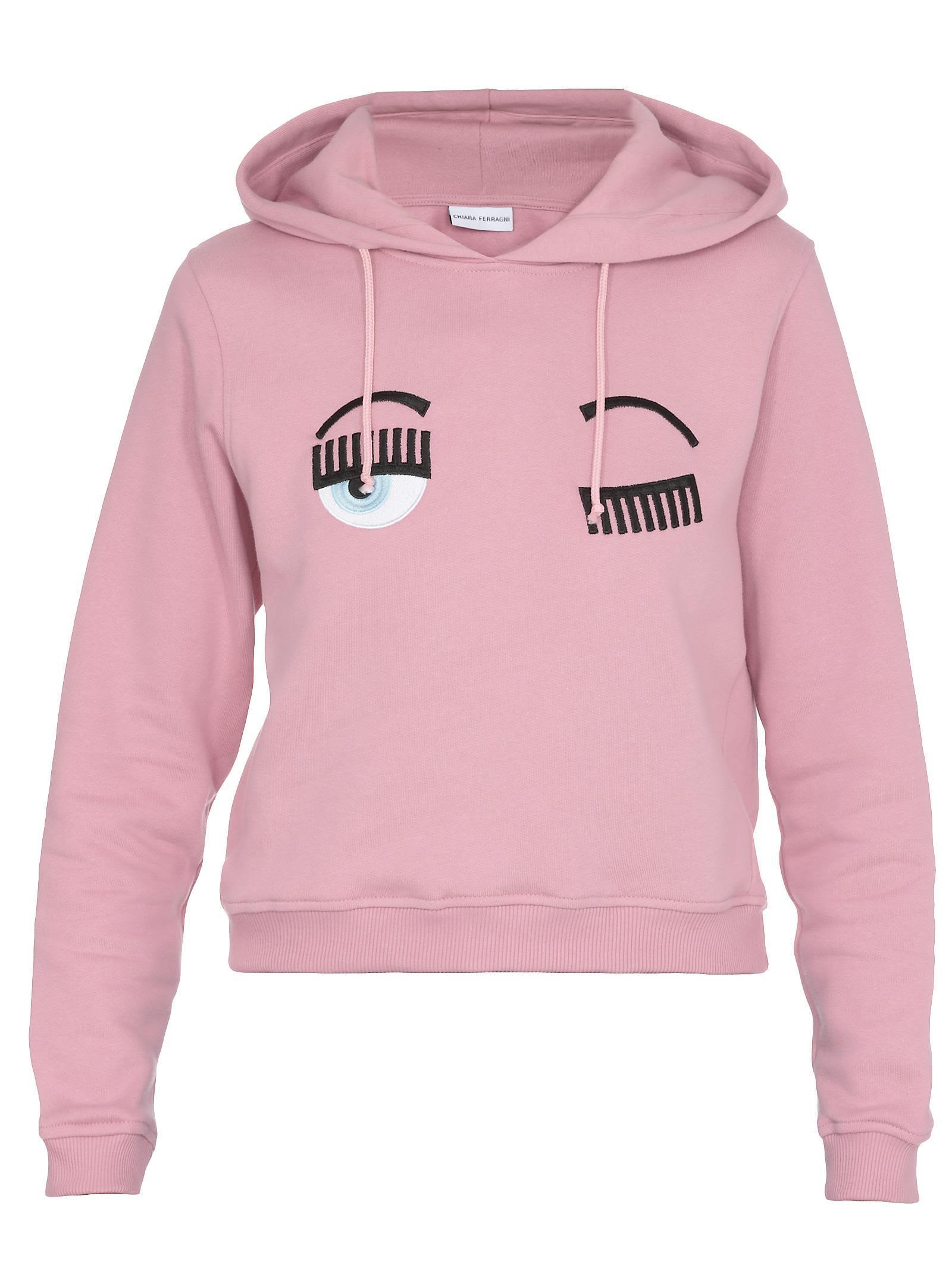 Chiara Ferragni Hoodie Crop Flirting In Pink
