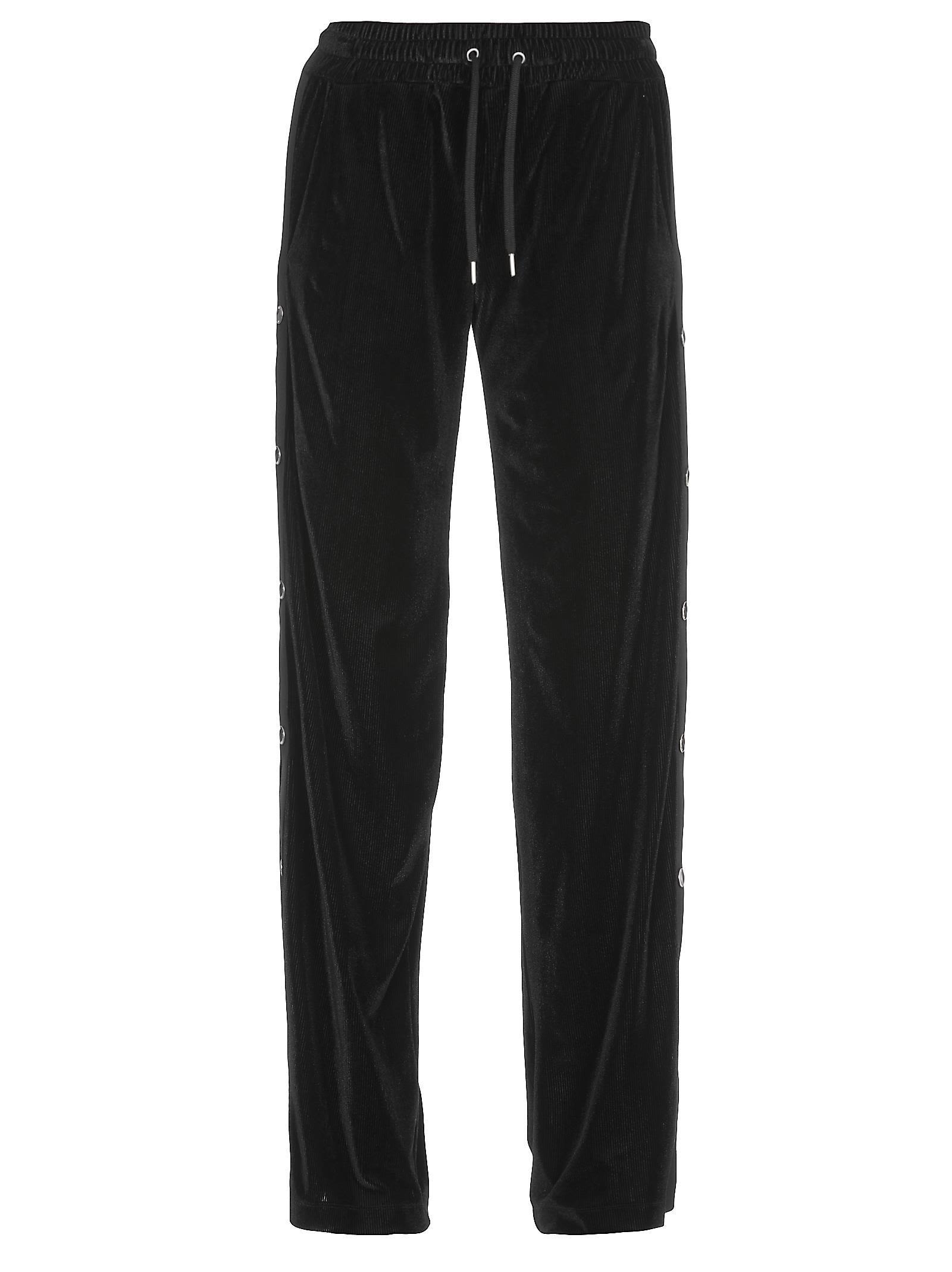 Love Moschino Velvet Trouser In Black