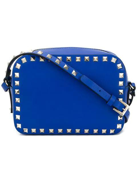 Valentino Garavani Valentino  Rockstud Camera Crossbody Bag - Blue