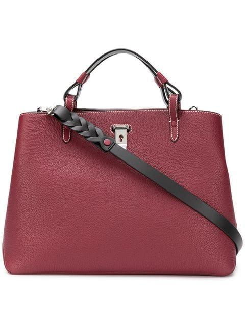 Bally Top Handle Tote - Red