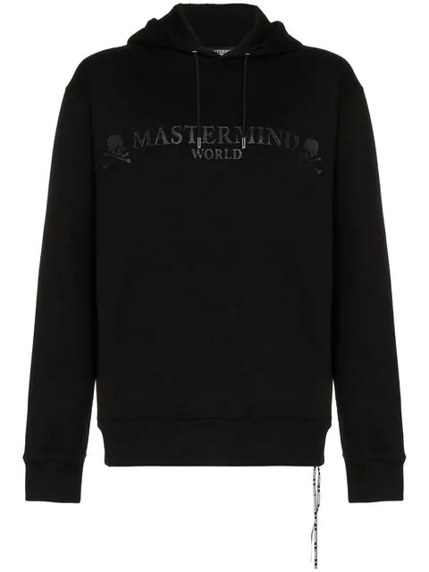 Mastermind Japan World Logo Cotton Hoodie In Black