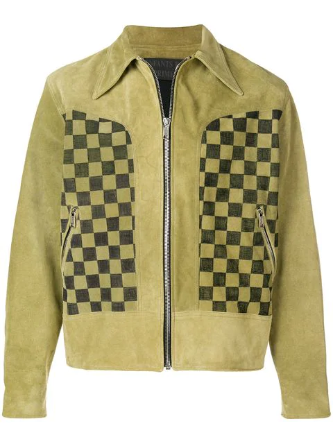 Enfants Riches Deprimes Enfants Riches DÉprimÉs Television Checker Jacket - Green