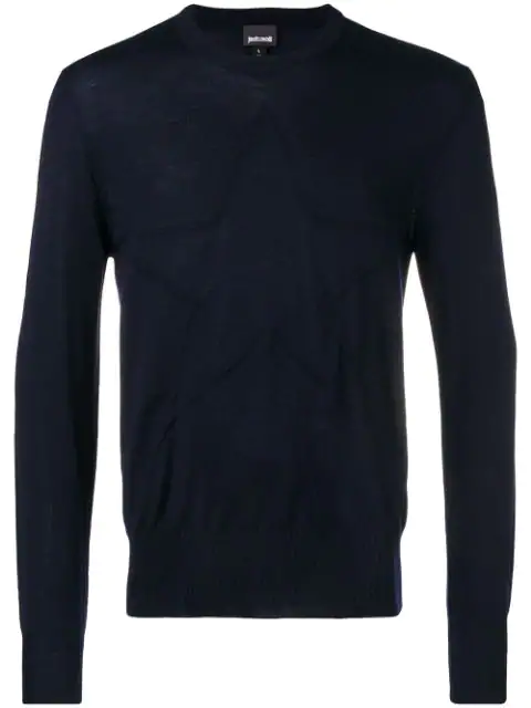 Just Cavalli Long-sleeve Fitted Sweater - Blue