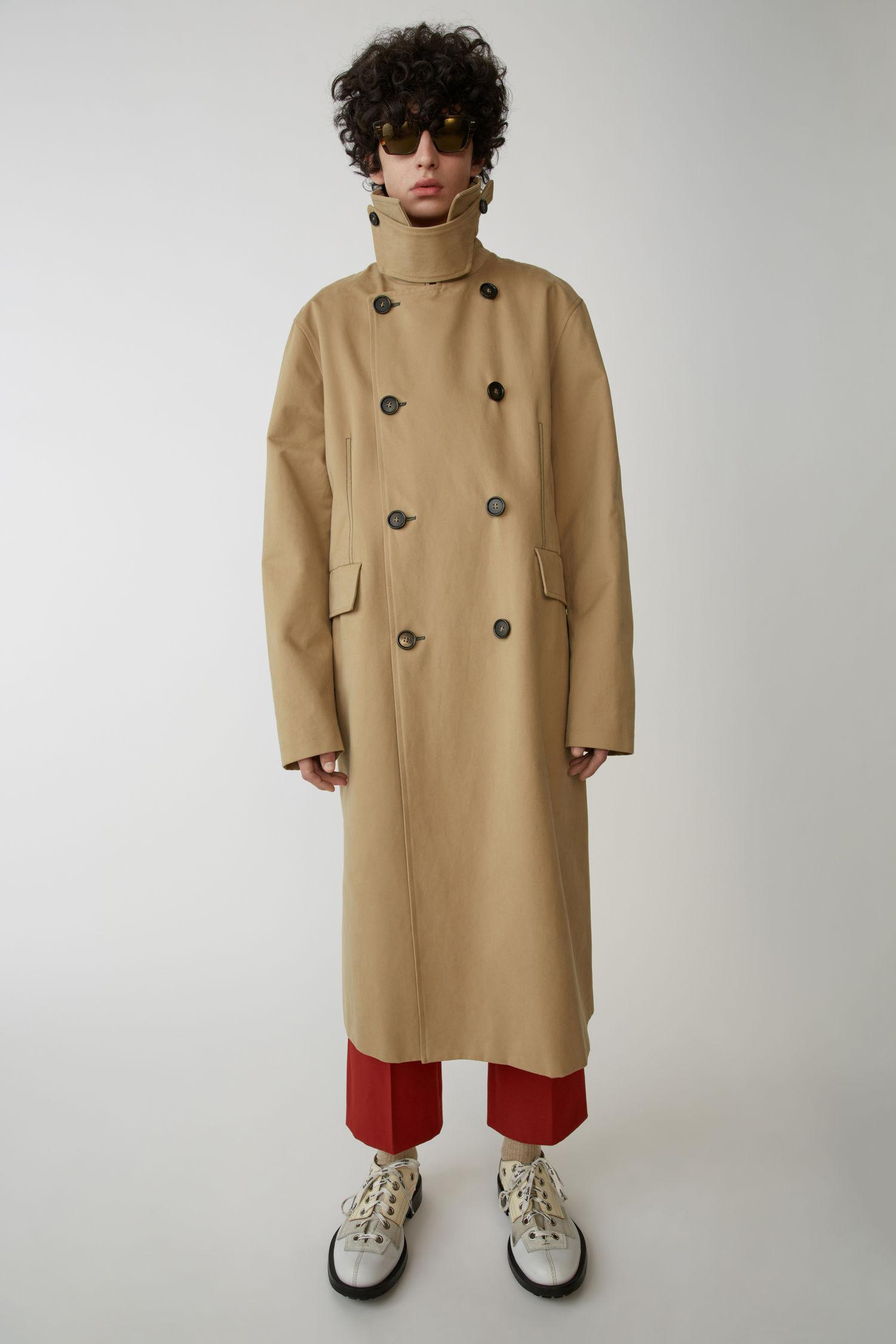 Acne Studios Oversized Trench Coat Sand Beige