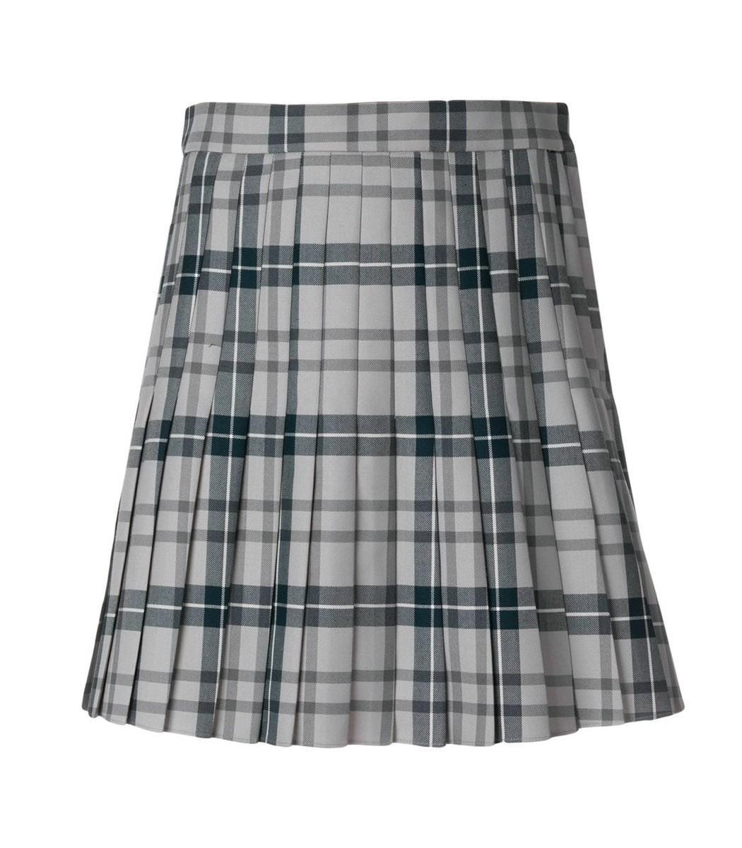 Thom Browne Pleated Skirt In Grey